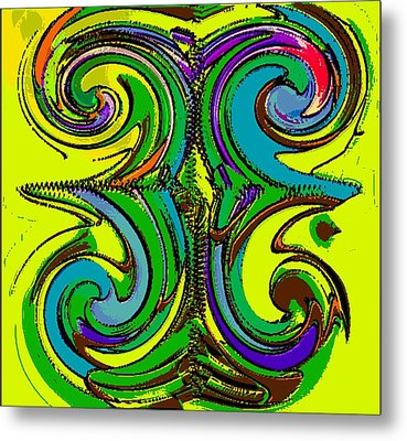 Abstracto Del Lunes 2 Metal Print by Rod Saavedra-Ferrere