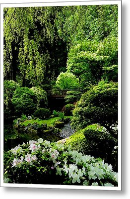 Accentuating The Green Metal Print
