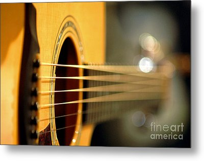 Acoustic Guitar Metal Print by Gib Martinez
