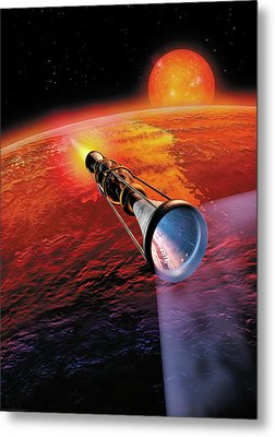 Across The Sea Of Suns Metal Print by Don Dixon