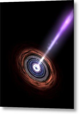 Active Galactic Nucleus, Artwork Metal Print by Nasa