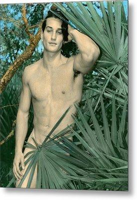 Adam In Paradise 2 Metal Print by Jean-claude Poulin