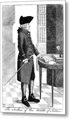 Adam Smith, Scottish Philosopher & Metal Print by Photo Researchers