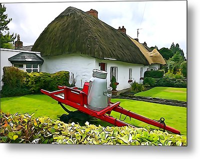 Metal Print featuring the photograph Adare Cottage by Charlie and Norma Brock