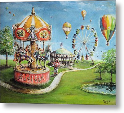 Metal Print featuring the painting Carnival by Bernadette Krupa