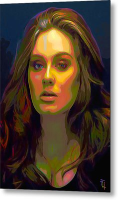 Adele Metal Print by  Fli Art