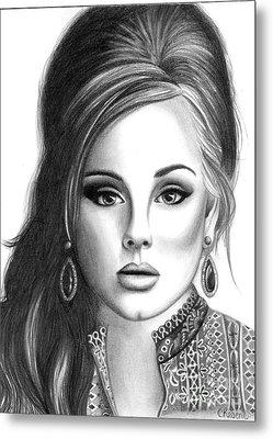Adele Metal Print by Crystal Rosene