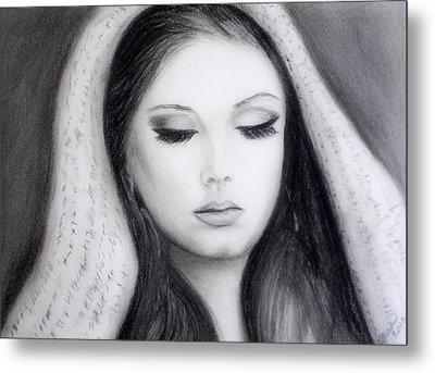 Adele Metal Print by Gina Cordova