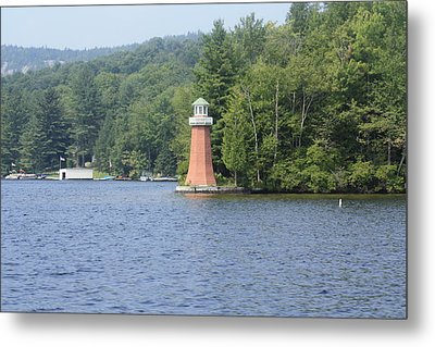 Metal Print featuring the photograph Adirondack Lighthouse by Ann Murphy