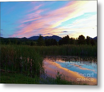 Adirondack Reflections 2 Metal Print by Peggy Miller
