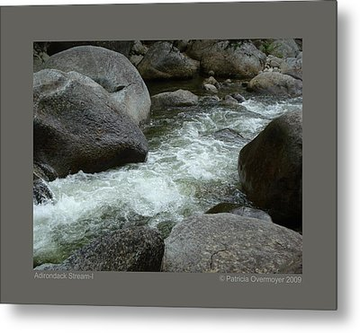Metal Print featuring the photograph Adirondack Stream-i by Patricia Overmoyer