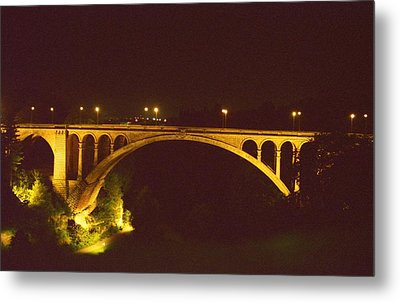 Metal Print featuring the photograph Adolphe Bridge  by Dennis Lundell