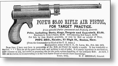 Advertisement: Air Pistol Metal Print by Granger