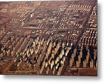 Aerial View Of Beijing Suburb, Tongzhou Distr Metal Print by Jialiang Gao