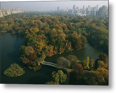 Aerial View Of Central Park Metal Print by Melissa Farlow