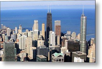 Aerial View Of Chicago Metal Print by Luiz Felipe Castro