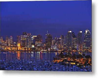 Aerial View Of San Diego Skyline With Metal Print by Stuart Westmorland