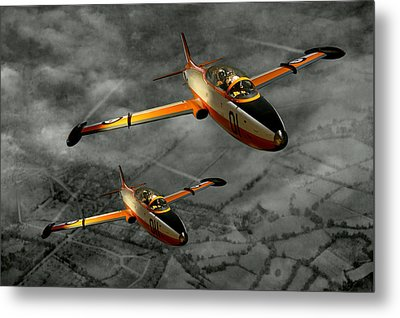 Aermacchi In Flight Metal Print by Steven Agius