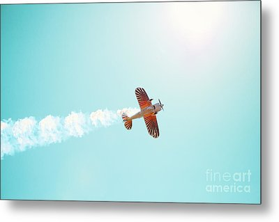 Aerobatic Biplane Inverted Metal Print by Kim Fearheiley