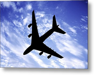 Aeroplane In Flight Metal Print