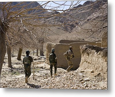 Afghan Commandos Are Guided Metal Print by Stocktrek Images