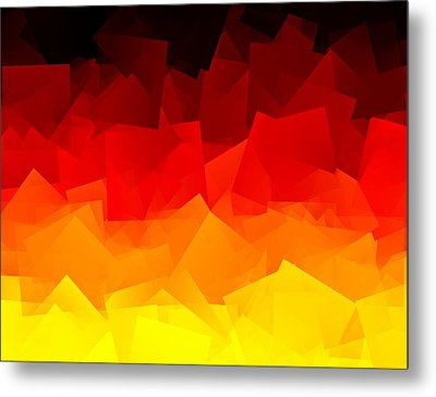 Metal Print featuring the digital art Afire by Jeff Iverson
