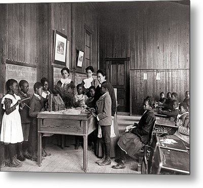 African American Children Learning Metal Print by Everett