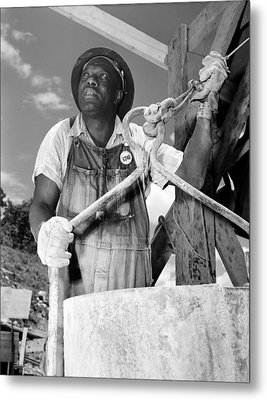 African American Construction Worker Metal Print by Everett