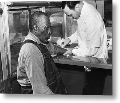 African American Patient Receiving Metal Print by Everett