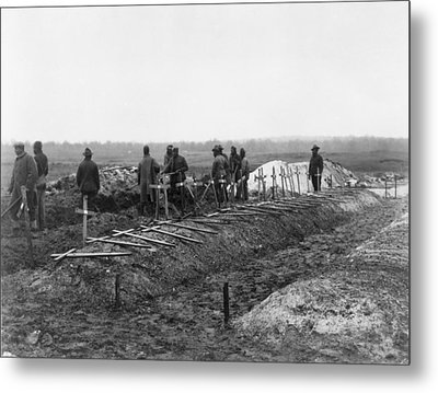 African-american Soldiers Of The 321st Metal Print by Everett
