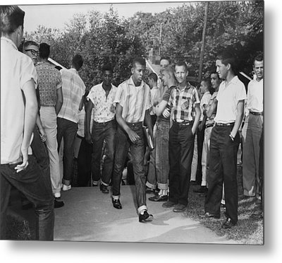 African American Students Arrive Metal Print by Everett