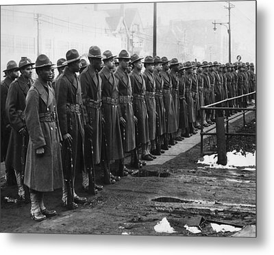 African Americans In The U.s. Army Metal Print by Everett