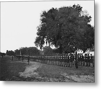 African Americans Soldiers Of The 29th Metal Print by Everett