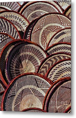 Metal Print featuring the photograph African Art Baskets by Werner Lehmann