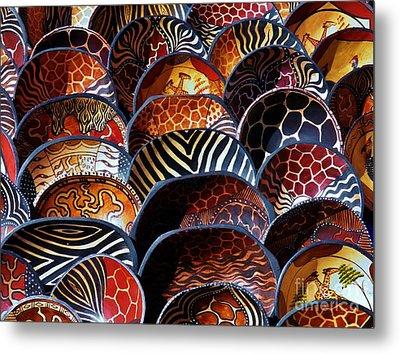 African Art  Wooden Bowls Metal Print by Werner Lehmann