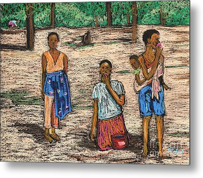African Children Metal Print by Reb Frost