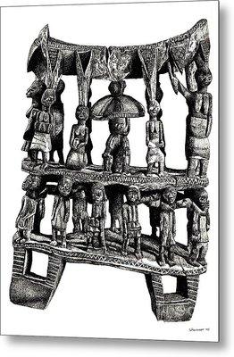 African Tribal Seat  Metal Print by Adendorff Design