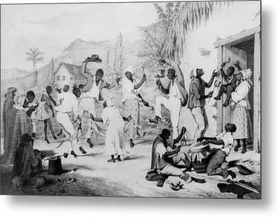 Afro-caribbean Slaves Dancing Metal Print by Everett