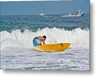 Metal Print featuring the photograph After Catching A Great Wave by Ann Murphy