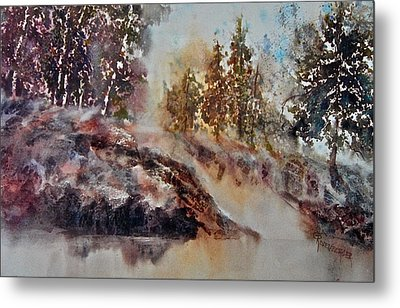 Metal Print featuring the painting After The Rains by Carolyn Rosenberger
