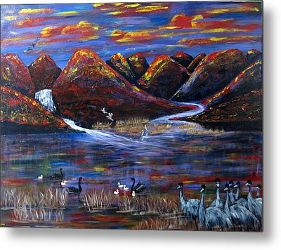 After The Wet Metal Print by Susan McLean Gray