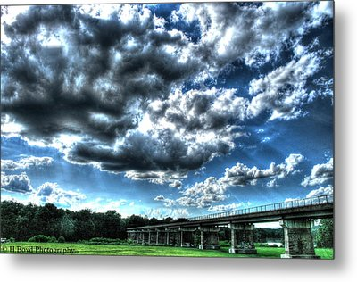 Afternoon By The Bridge 2 Metal Print by Heather  Boyd