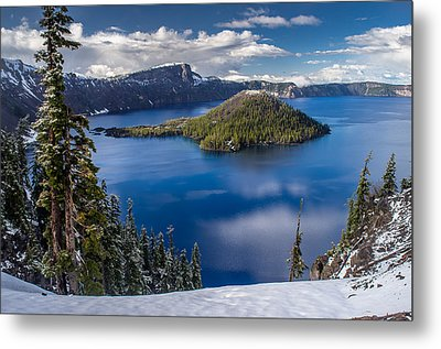Afternoon Clearing At Crater Lake Metal Print by Greg Nyquist