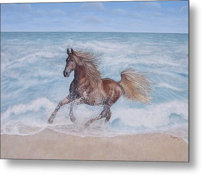 Metal Print featuring the painting Afternoon Frolic by Cindy Lee Longhini