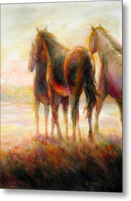 Metal Print featuring the painting Afternoon Glow by Bonnie Goedecke