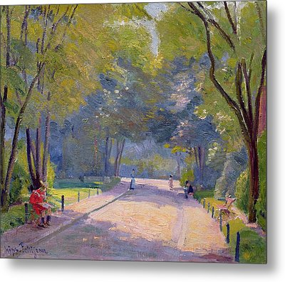 Afternoon In The Park Metal Print by Hippolyte Petitjean