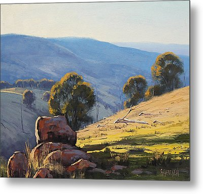 Afternoon Light Turon Hills Metal Print by Graham Gercken