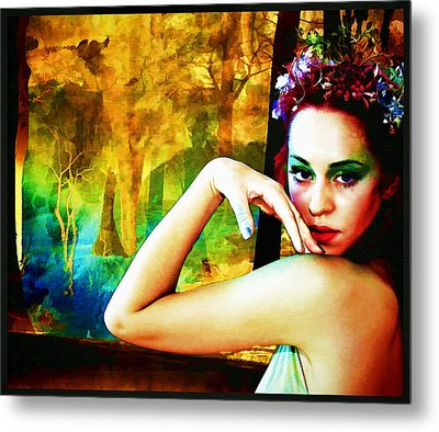 Metal Print featuring the digital art Afternoon Of A Wood Nymph by Mary Morawska