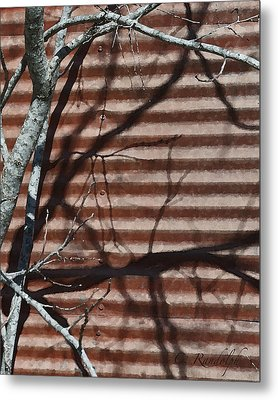 Metal Print featuring the photograph Against A Wall by Cheri Randolph