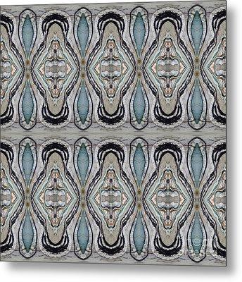 Agate-38e Border Tiled Metal Print by Sue Duda
